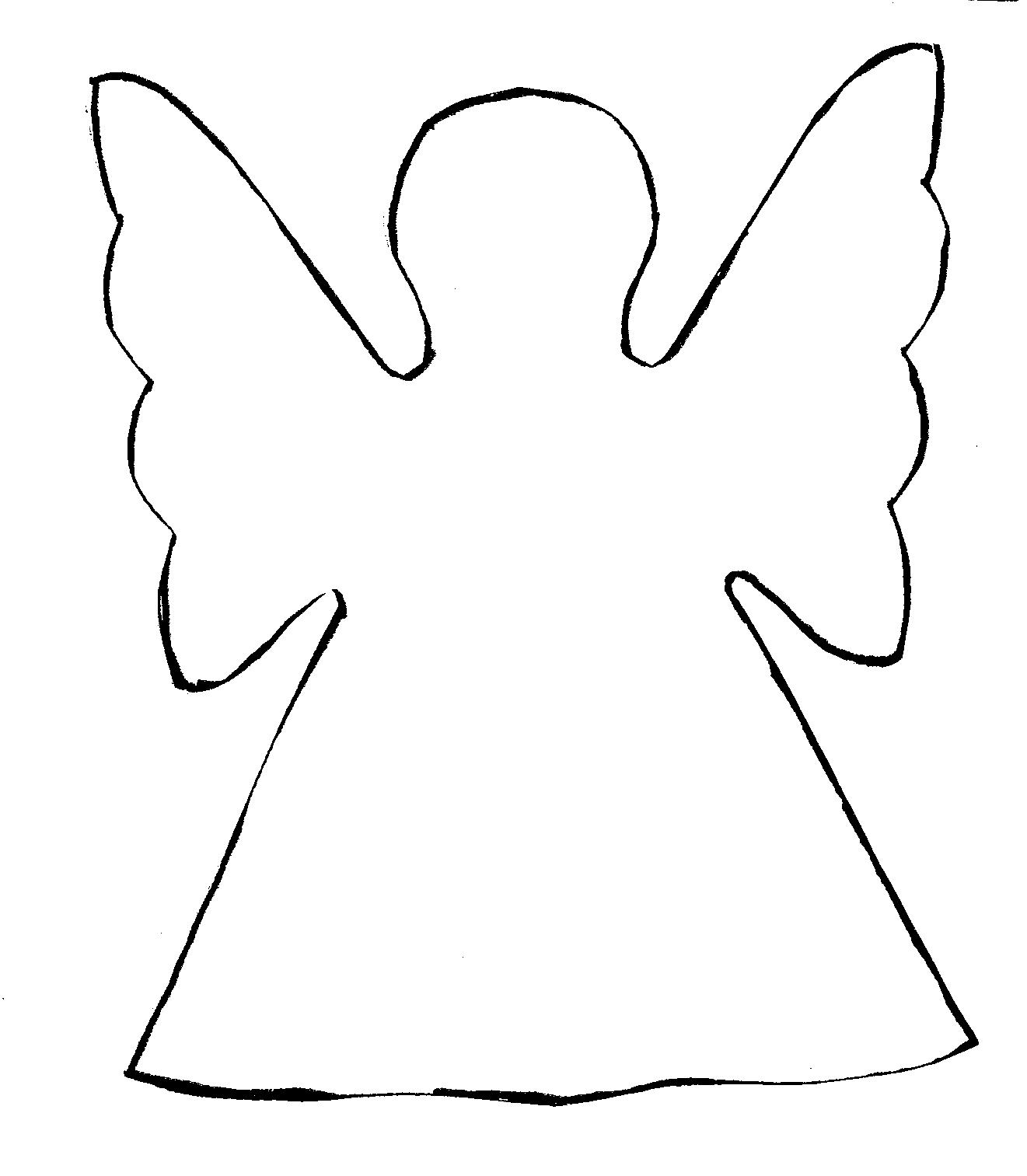 Clip Art Clipart Angel simple angel outline clipart kid 22 wings template free cliparts that you can download to you