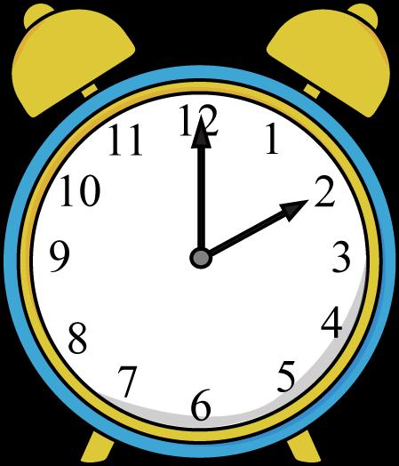 Alarm Clock Clip Art Image   Blue And Yellow Alarm Clock