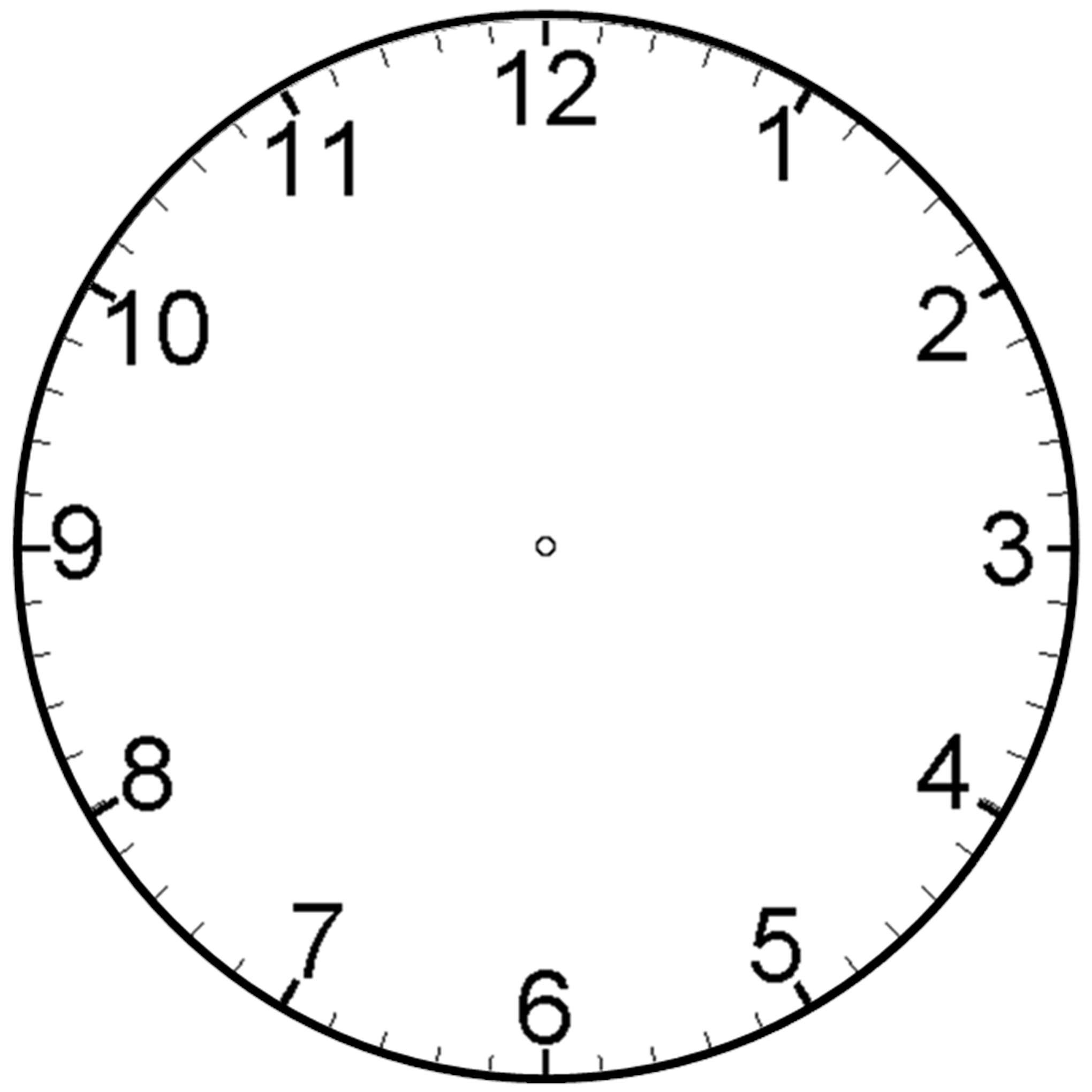 Blank Clock Clipart 9tzeojyjc Jpeg