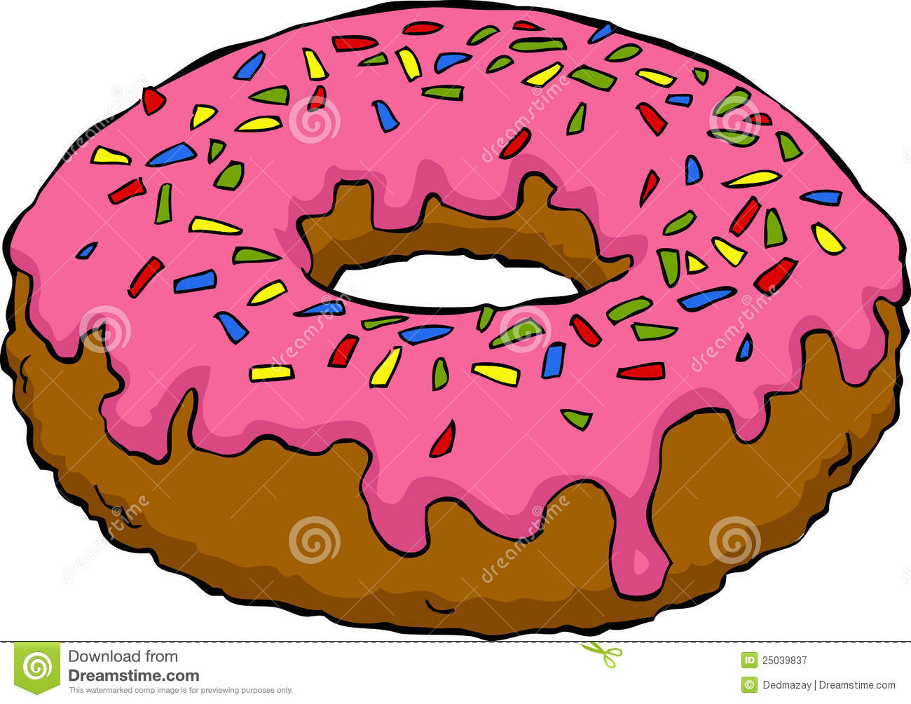 Cartoon Donut Royalty Free Stock Photography   Image  25039837