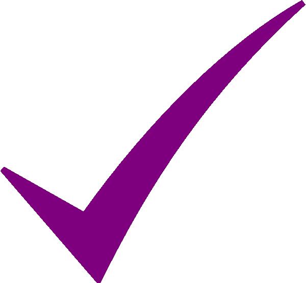 Check Mark Purple Clip Art At Clker Com   Vector Clip Art Online