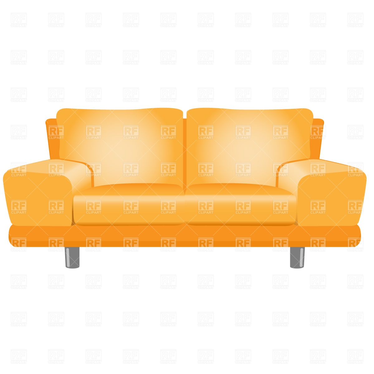 Clipart Catalog   Objects   Modern Sofa Download Royalty Free Vector