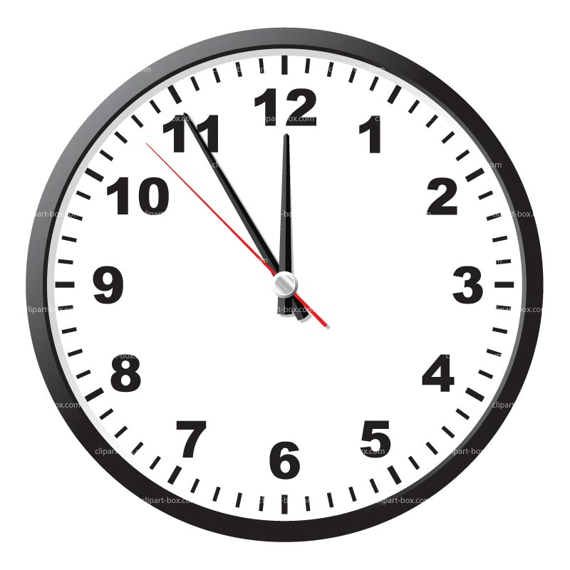 Clipart Clock   Royalty Free Vector Design