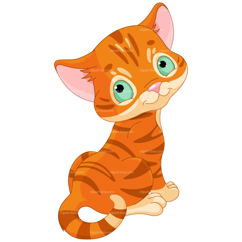 Clipart Lovely Kitten   Royalty Free Vector Design