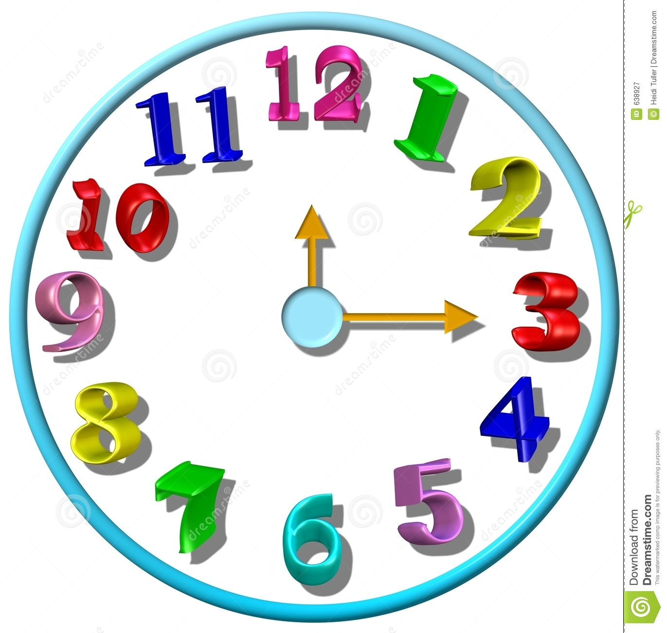 Clock Clipart For Kids   Clipart Panda   Free Clipart Images