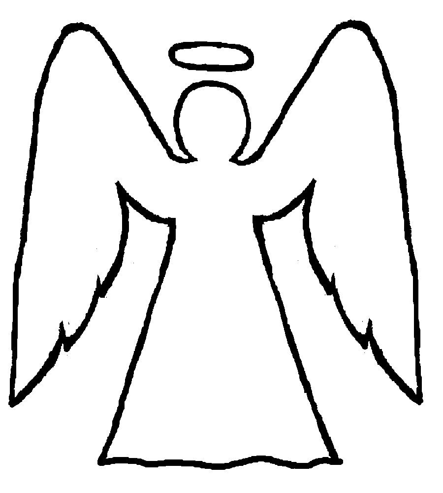 Coloring Pages Angelsangel Clipart Angel Art Works Angelic Arts