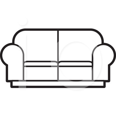 Couch Clipart Black And White   Clipart Panda   Free Clipart Images