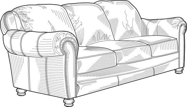 Couch Furniture Clip Art At Clker Com   Vector Clip Art Online