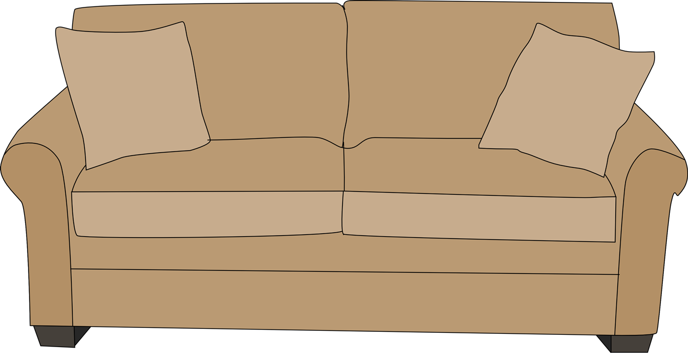 Sofa Clipart - Clipart Kid