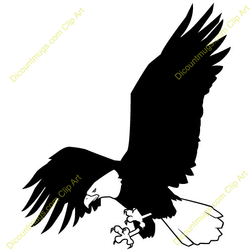 Eagle Flying Clipart Black And White   Clipart Panda   Free Clipart