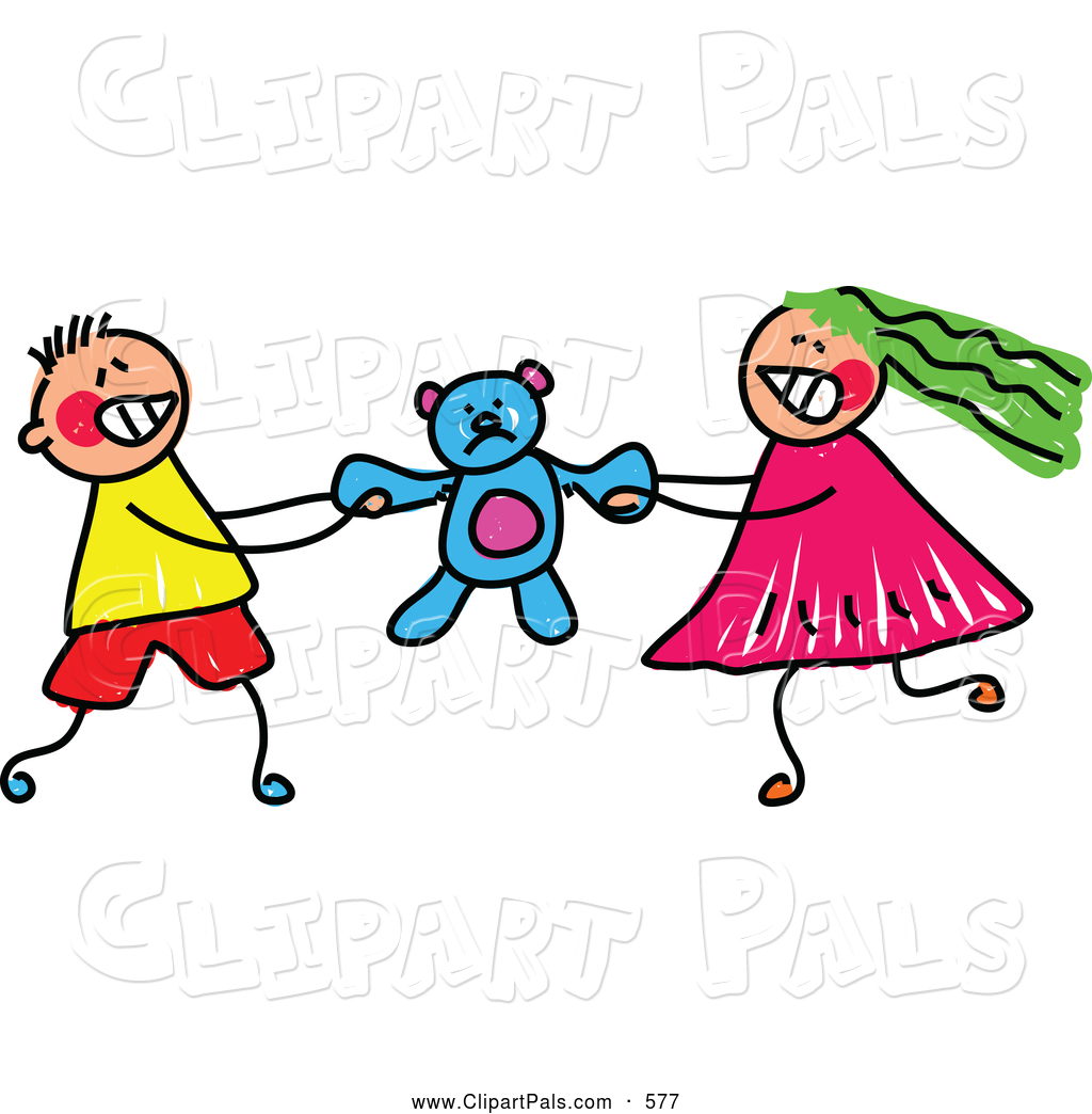 Fight Clipart Pal Clipart Of A Pair Of Kids A Boy And Girl Fighting