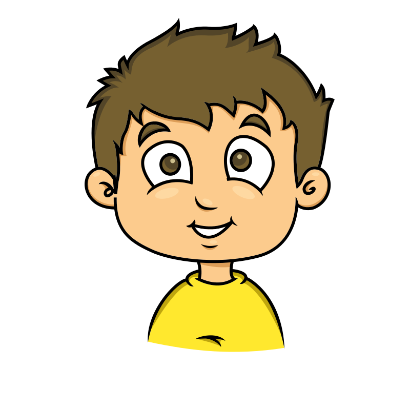 Free Cartoon Young Boy Face Clip Art