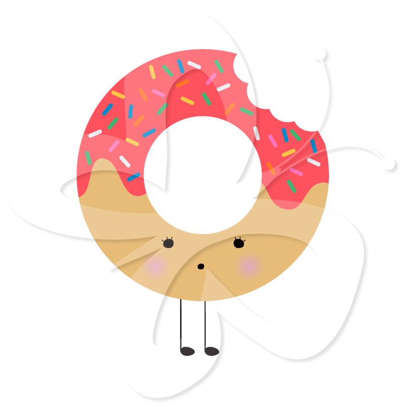 Home   All Clip Art   Kawaii Cute Donut Food Clipart