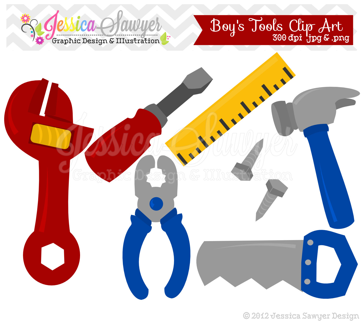 Instant Download Building Tool Clipart By Jessicasawyerdesign