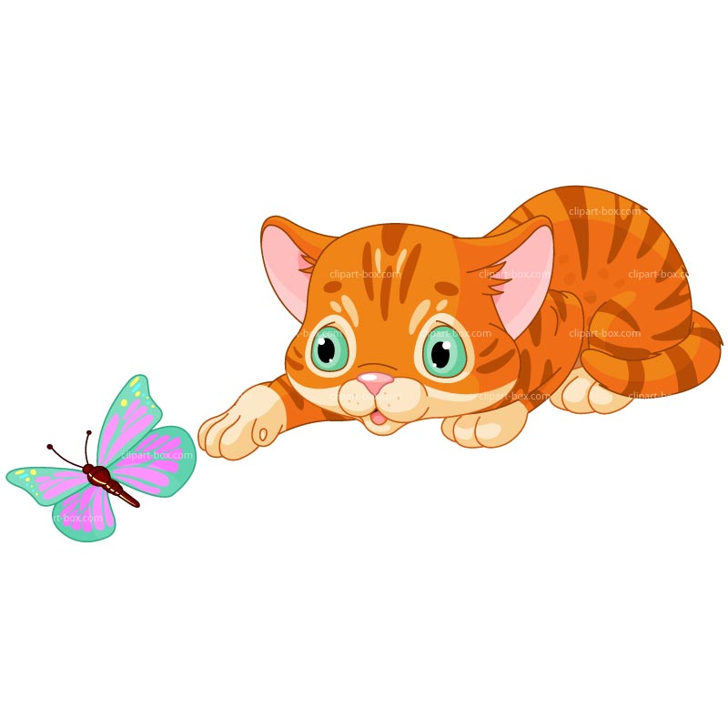 рисунок кошка ловит