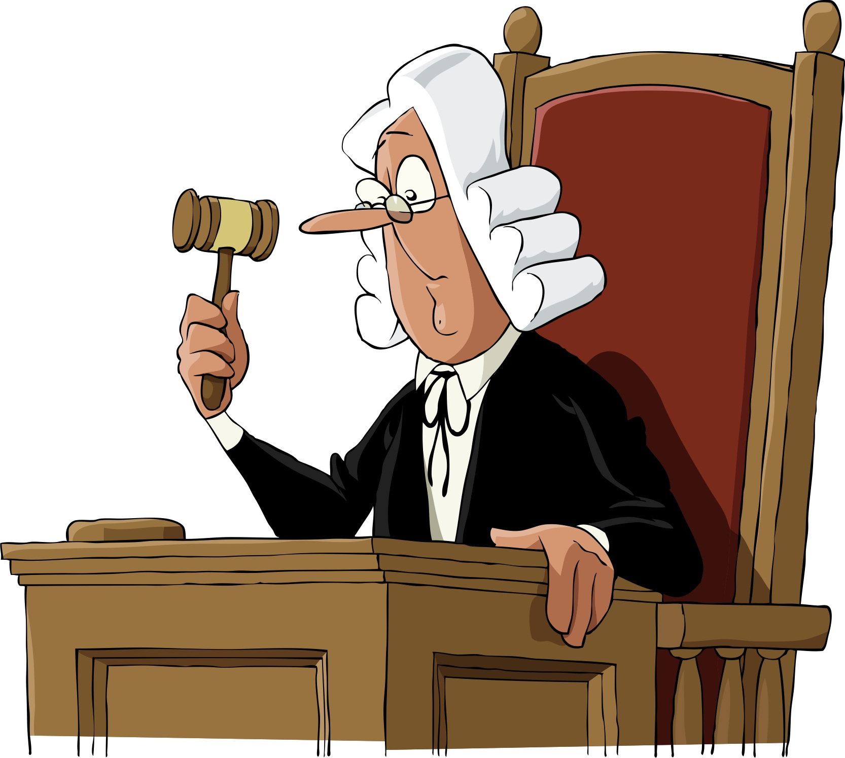 Cartoon Judge Clipart - Clipart Suggest