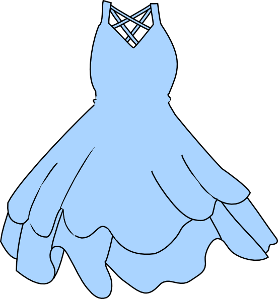 Light Blue Dress Clip Art
