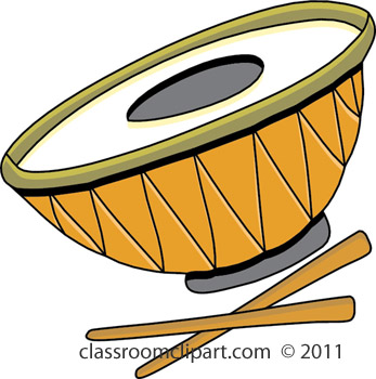 Music   Steel Drum S411b   Classroom Clipart