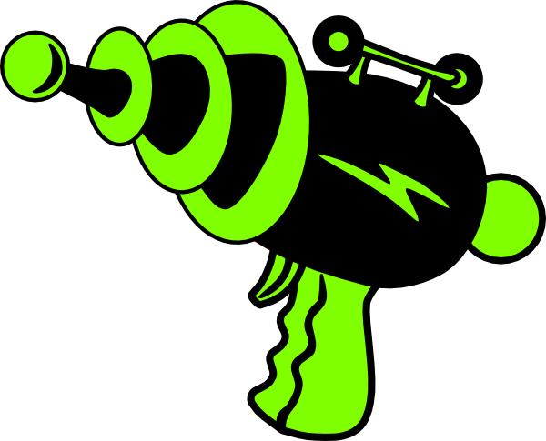 Ray Gun Green And Black No Shadow Clip Art At Clker Com   Vector Clip