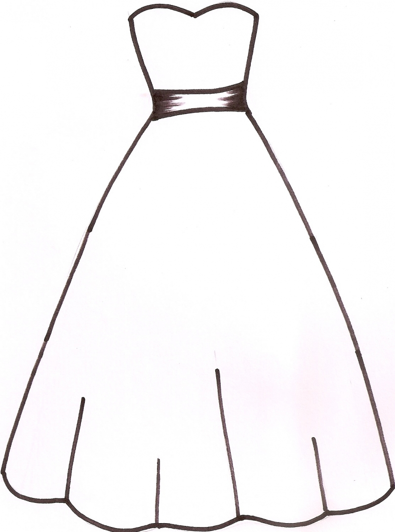 Wedding Dress Outline   Clipart Panda   Free Clipart Images