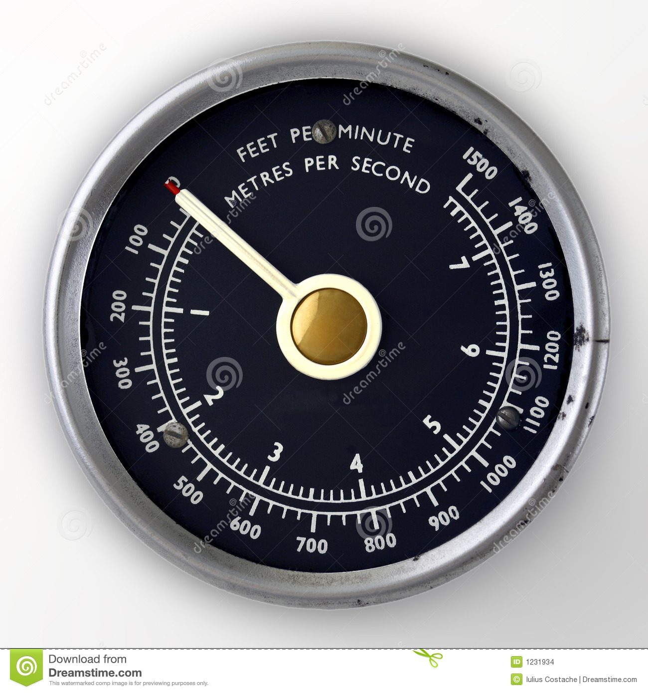 Air Speed Gauge Stock Images   Image  1231934