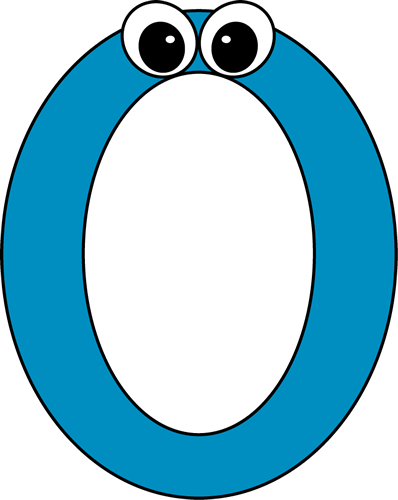 Cartoon Number Zero Clip Art Image   Blue Number Two With Cartoon Eyes