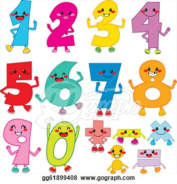 Clip Art Funny Numbers Clipart - Clipart Kid