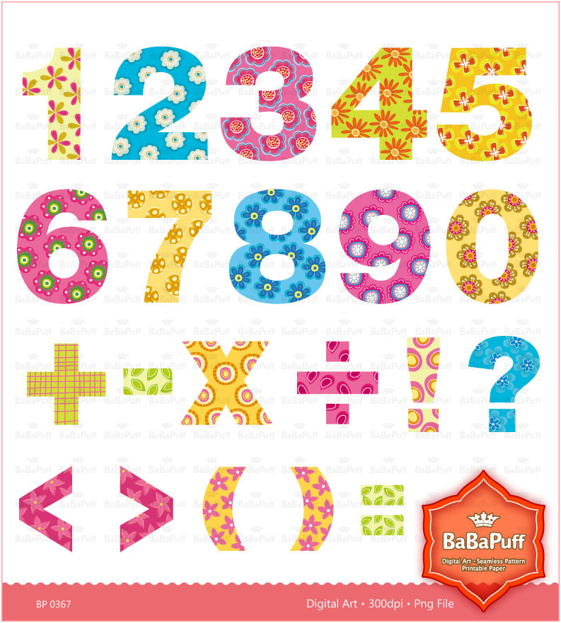 clipart birthday numbers - photo #8