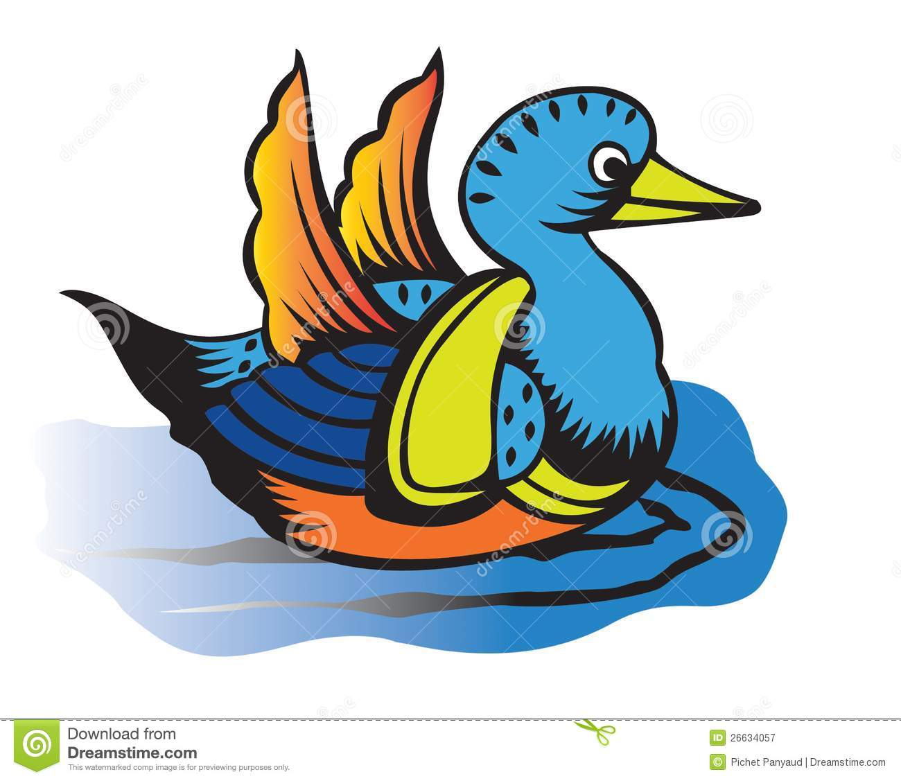 Mean Duck Clip Art Duck Royalty Free Clipart