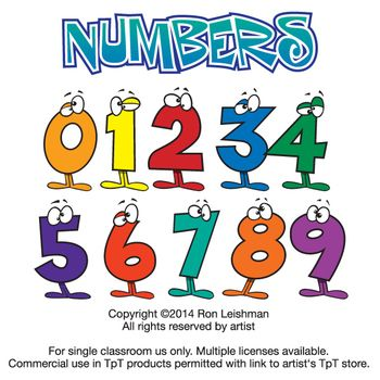 Numbers Clipart   Clip Art   Pinterest   Cartoon Numbers And Funny
