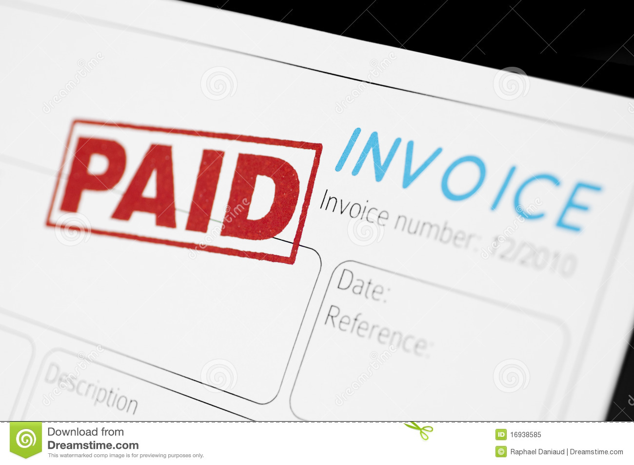 Paid Invoice Royalty Free Stock Photo   Image  16938585