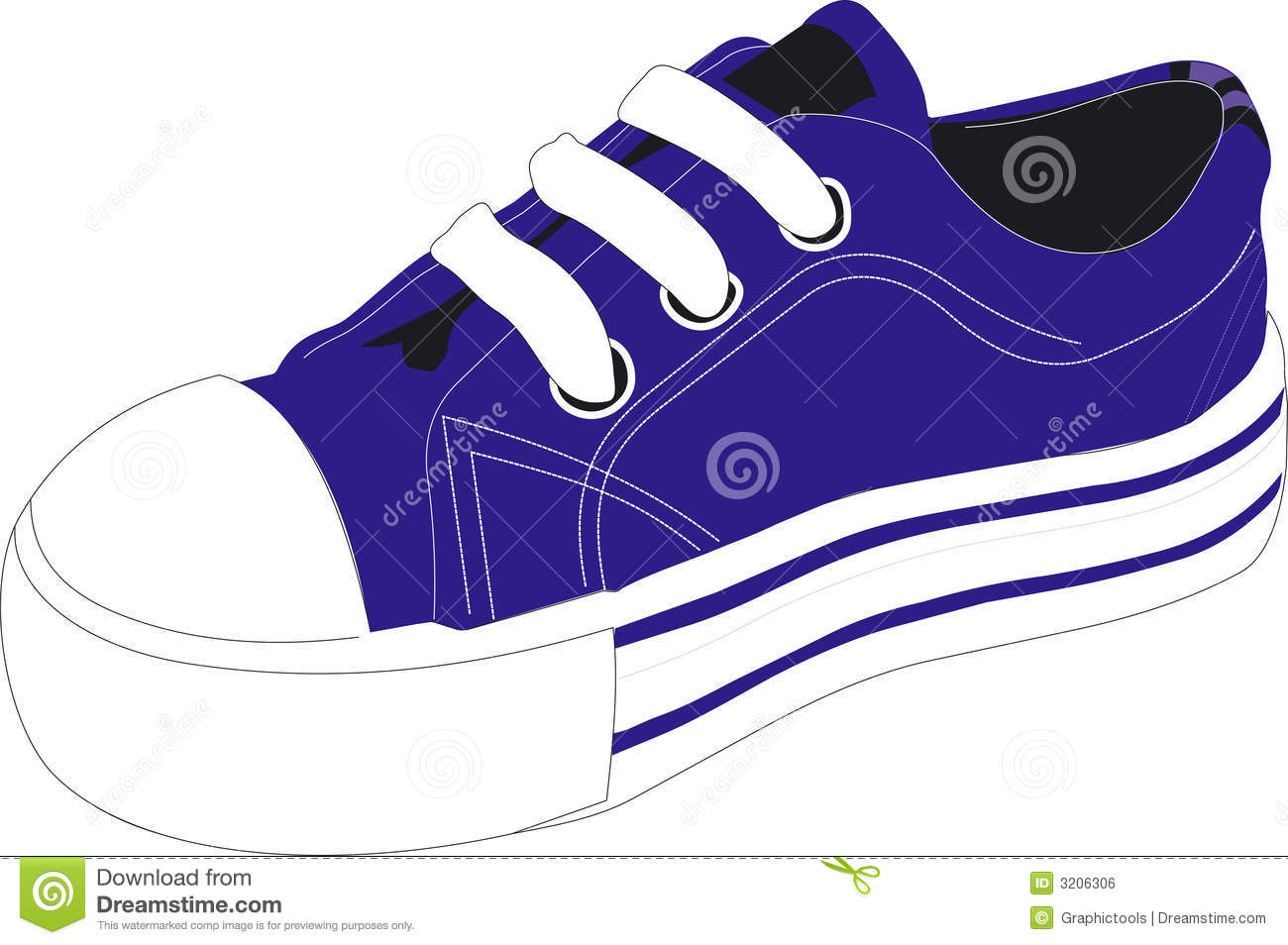 Blue Shoe Clipart - Clipart Kid