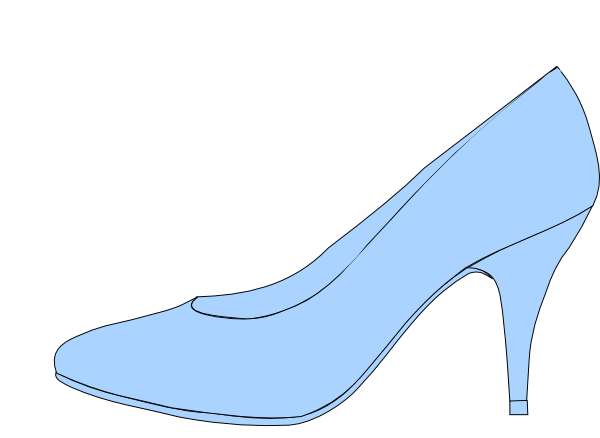 Blue Shoe Clip Art At Clker Com   Vector Clip Art Online Royalty Free