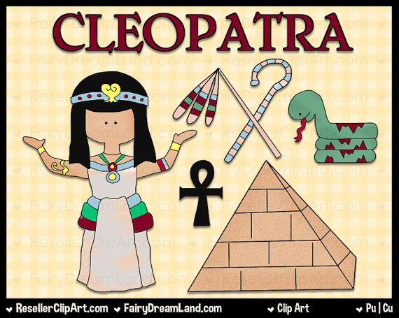 Cleopatra Digital Clip Art   Commercial Use Graphic Image Png Clipart
