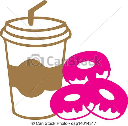 Donuts   Take Away Coffee Cup With    Csp14014317   Search Clipart