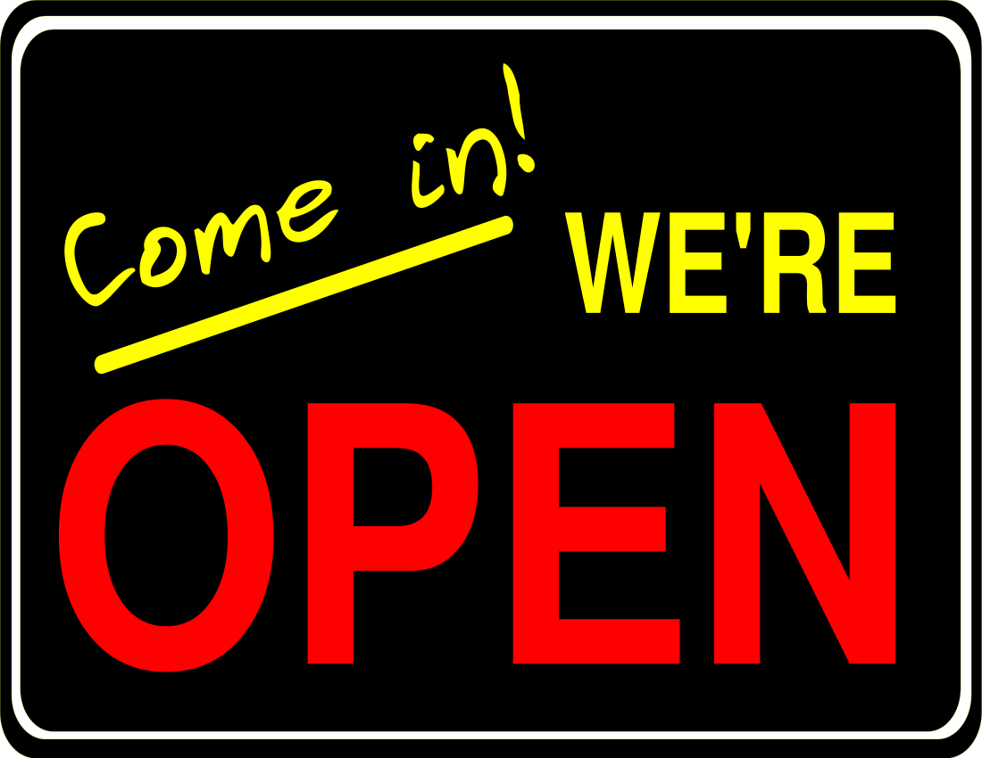 Come in We Re Open Sign Clip Art