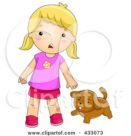 Rf  Clipart Illustration Of A Boy With A Hurt Knee Sitting By A Bike