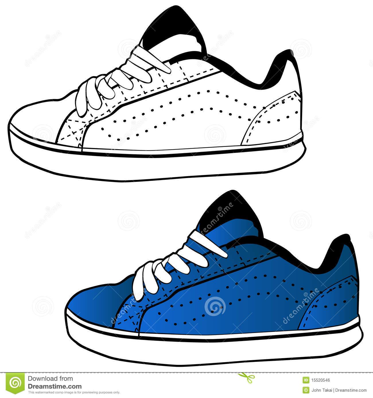 Running Shoe Sole Vector Art
