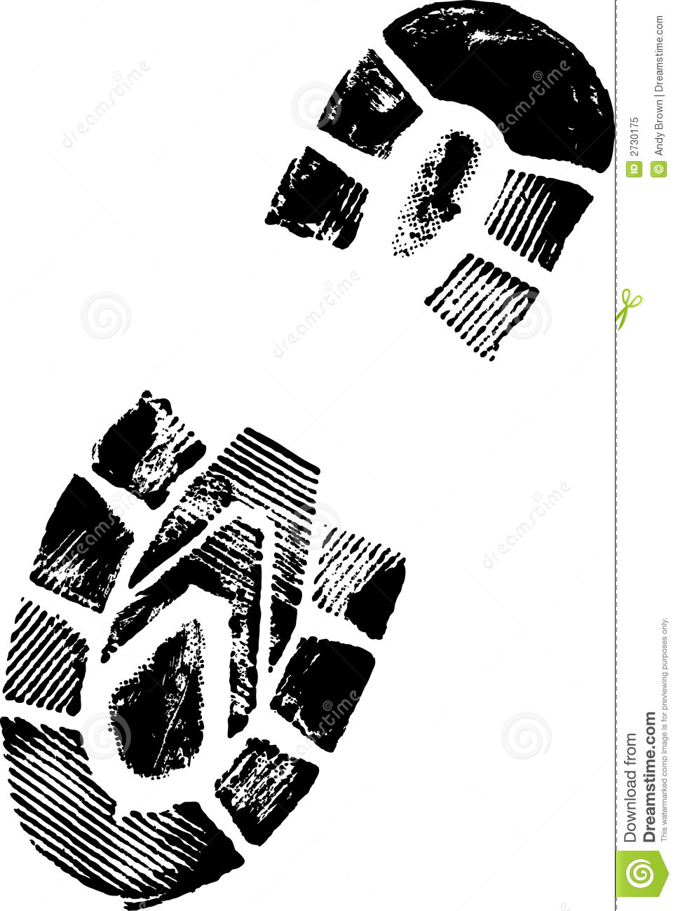 Running Shoe Print Clip Art Free - eClip Art