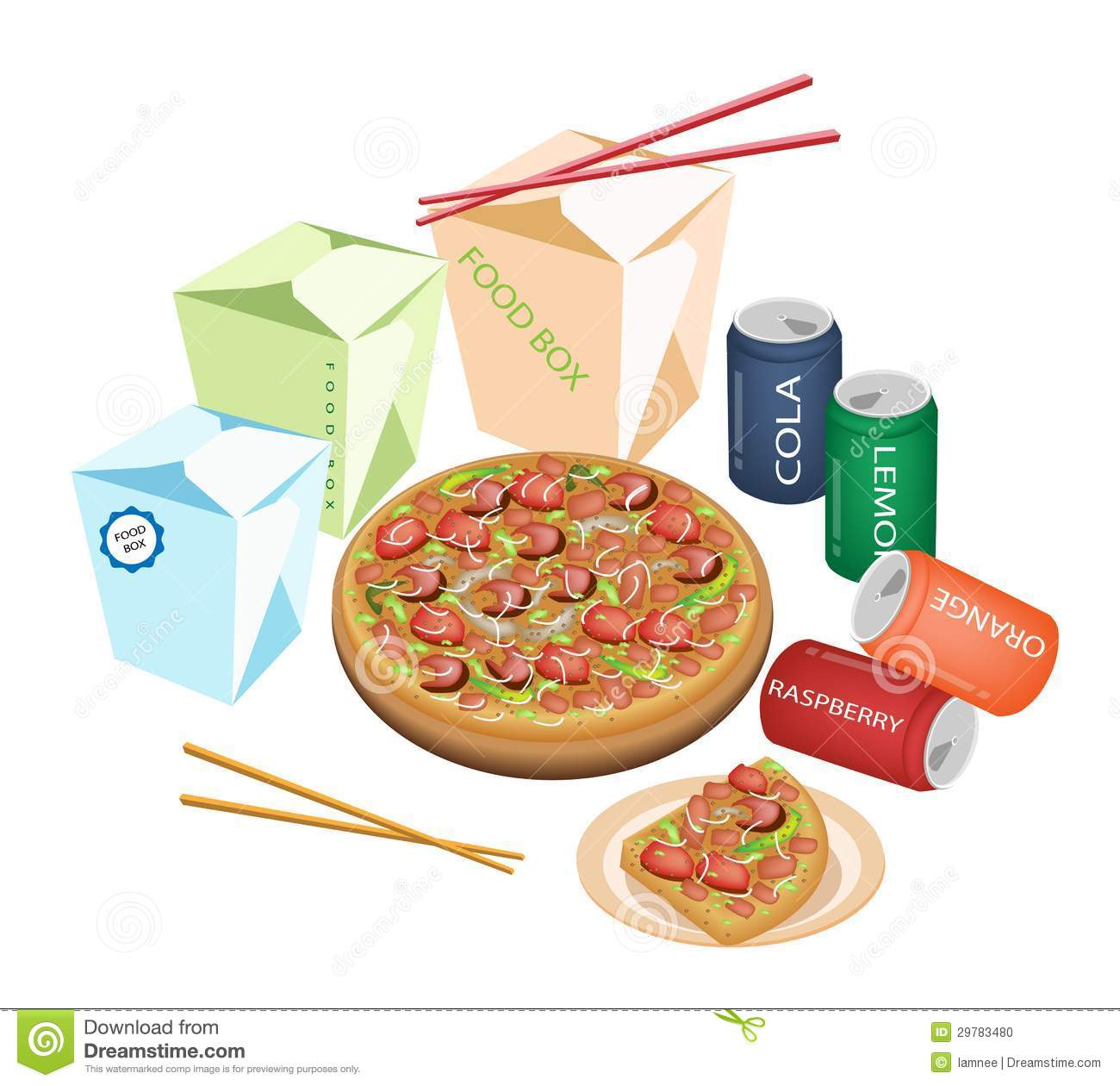 Take Away Restaurants An Illustration Of Take Out Food Chinese Food