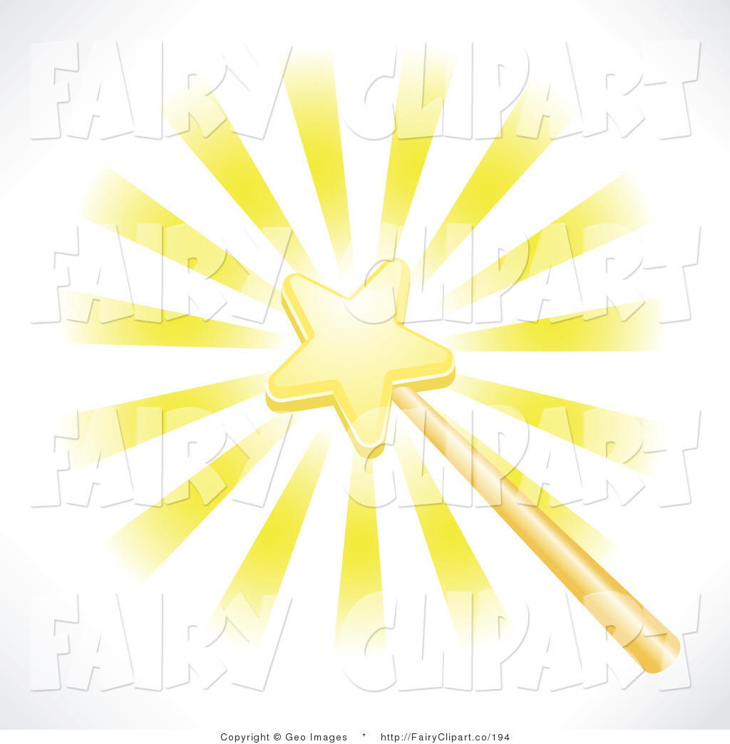 Clip Art Of A Glowing Star Fairy Wand By Geo Images    194