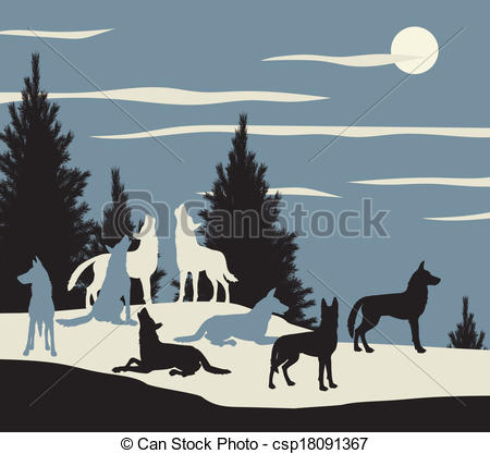 Wolf Pack Clipart Clipart Suggest