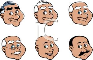 Clipart Picture  The Round Faces Of Old Gentlemen