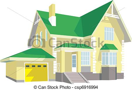Eps Vector Of Modern House   Beautiful Two Story House With A Porch
