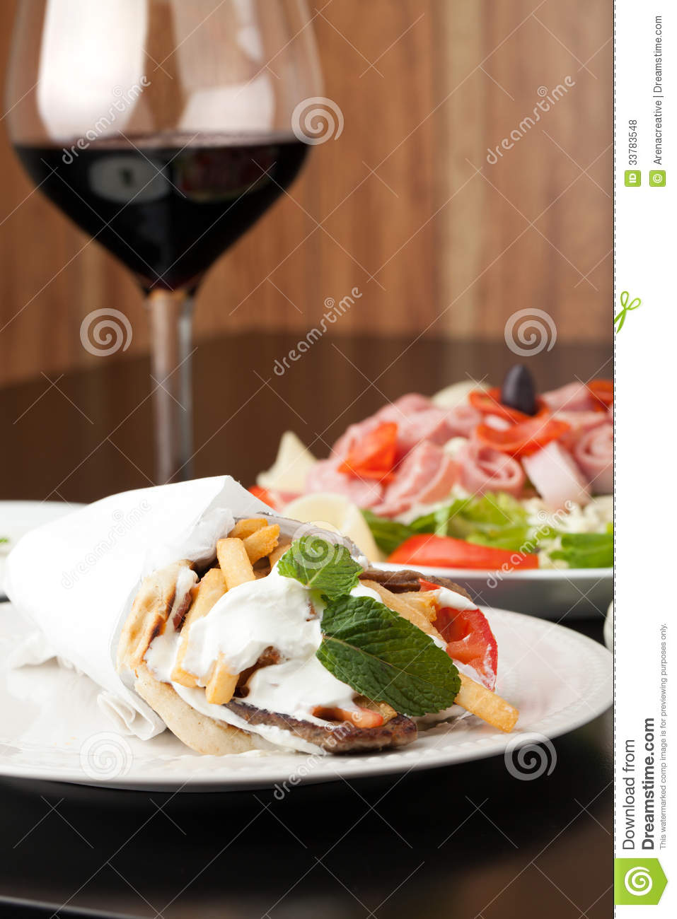 Gyro Pita Wrap Royalty Free Stock Photos   Image  33783548