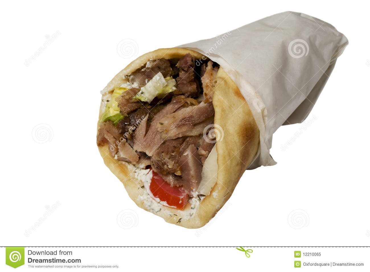 Gyros Pita Royalty Free Stock Photo   Image  12210065