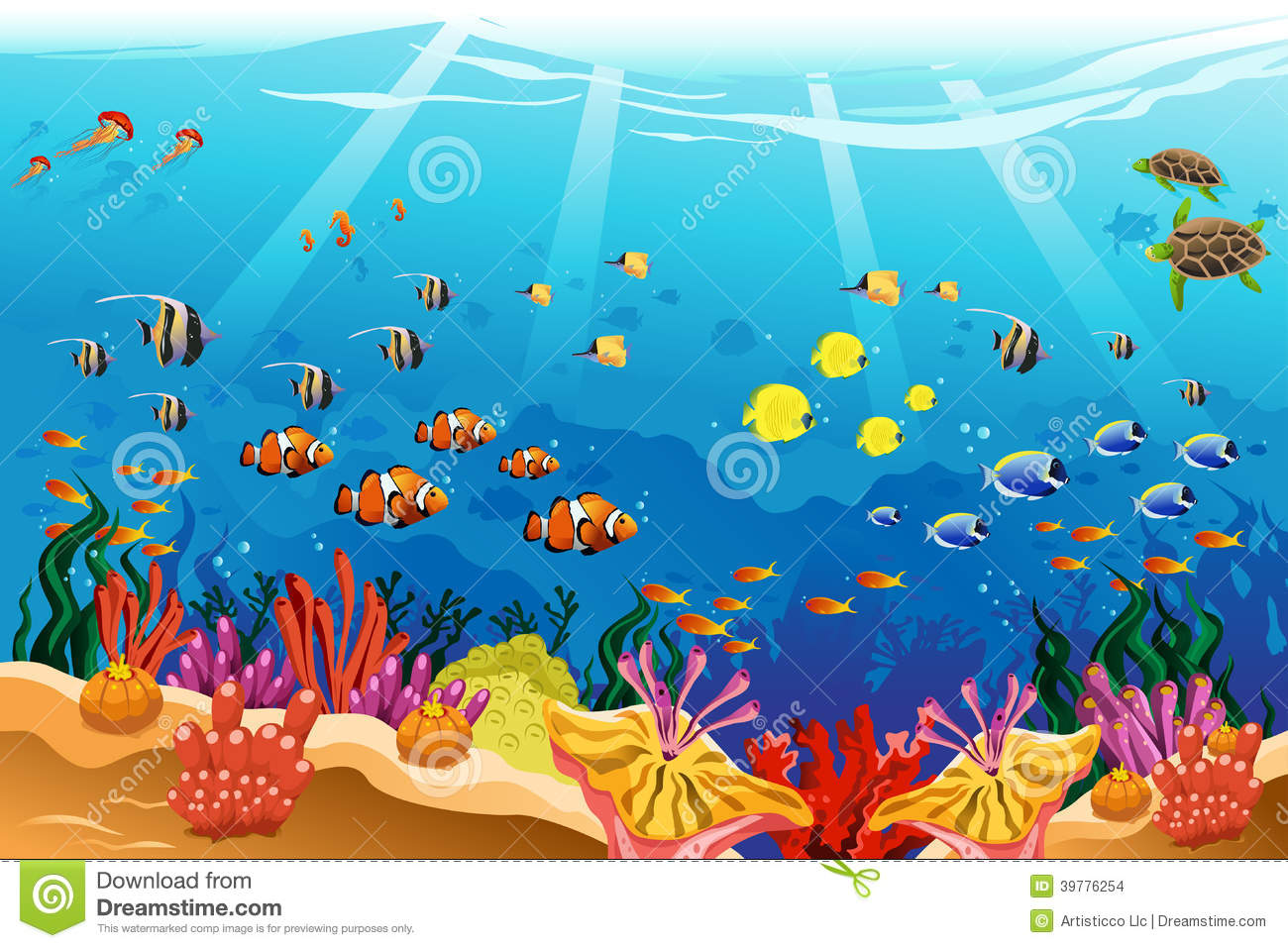 Ocean Scene Clipart - Clipart Kid