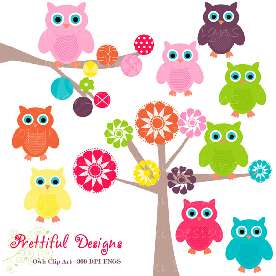 Girly Owl Clipart - Clipart Kid