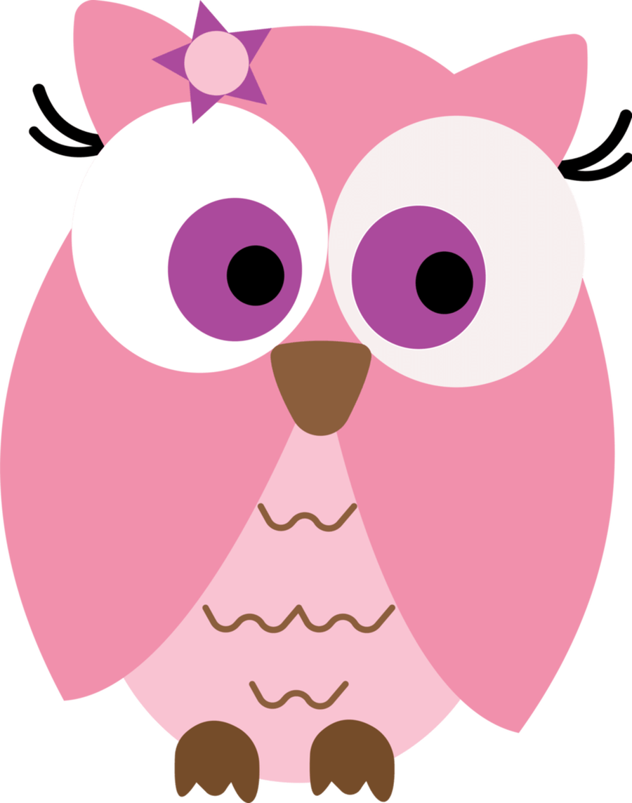 Pink Owl Clipart   Animal Bird Cute Owl Pink Vector   Pro Clip