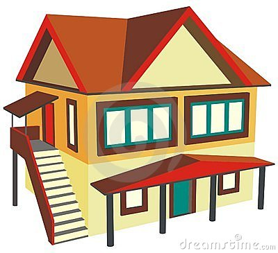 Two House Clipart - Clipart Kid